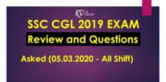 SSC CGL 2019 Exam Review and Questions Asked