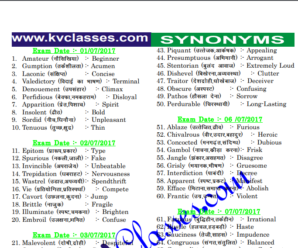 SSC CPO 2017 Synonyms|Idioms and Phrases All Shift Download PDF