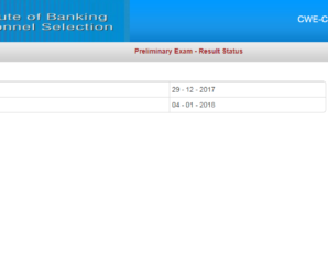 IBPS Clerk Prelims Result 2017 Out : Check Result Here
