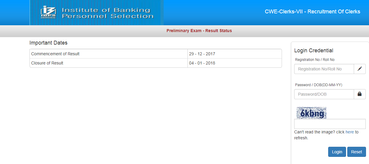 IBPS RESULT OUT