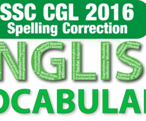 SSC CGL 2016 Spelling Correction all paper