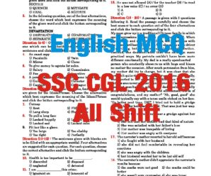 SSC CGL 2016  TIER-I English Questions Compilation in PDF  All Shift