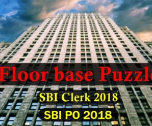 Important Floor Base Puzzle for SBI Clerk and SBI PO Pre2018