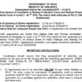 RRB RPF SI & Constable Recruitment Official Notification- 9739 Posts Download Pdf