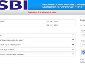 SBI Clerk Admit Card 2018 Released – Download Prelims Call Letter Now