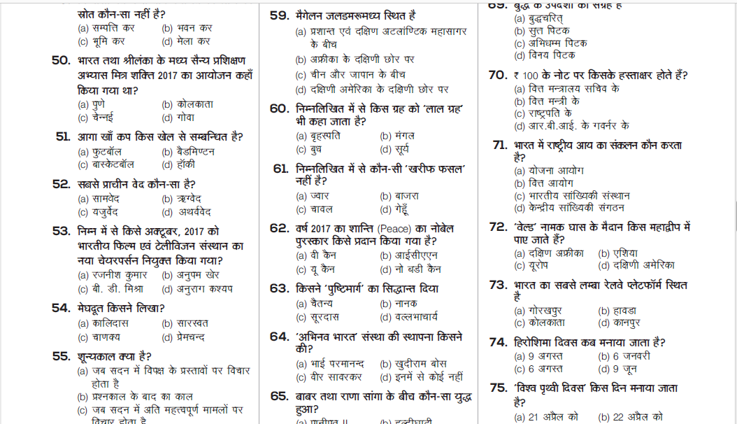 RRB ALP Technician Practice Set Paper-04 PDF in Hindi