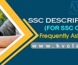 SSC DESCRIPTIVE SPECIAL : FREQUENTLY ASKED QUESTIONS