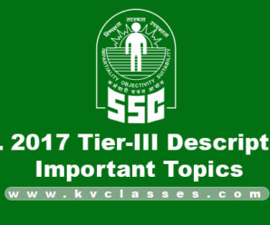 SSC CHSL & CGL 2017-18: Descriptive Paper Important Topics