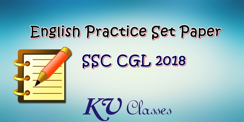 English Practice Set Paper For SSC CGL 2018