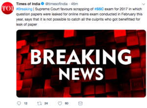 SSC CGL SC Hearing on CGL Cheating Case