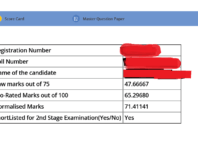 RRB ALP/Technician Stage-I Score card and Master Question Paper