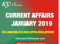 Current Affairs January 2019 PDF Download