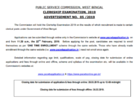 WBPSC Clerkship Recruitment Notification PDF Download