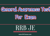 General Awareness Test For RRB JE Exam