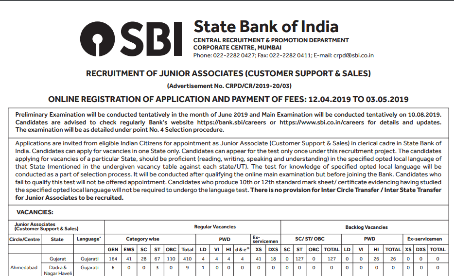 SBI Clerk 2018 Notification out | PDF Download