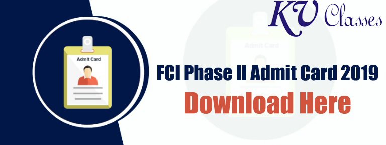 Download FCI Phase II Exam Date