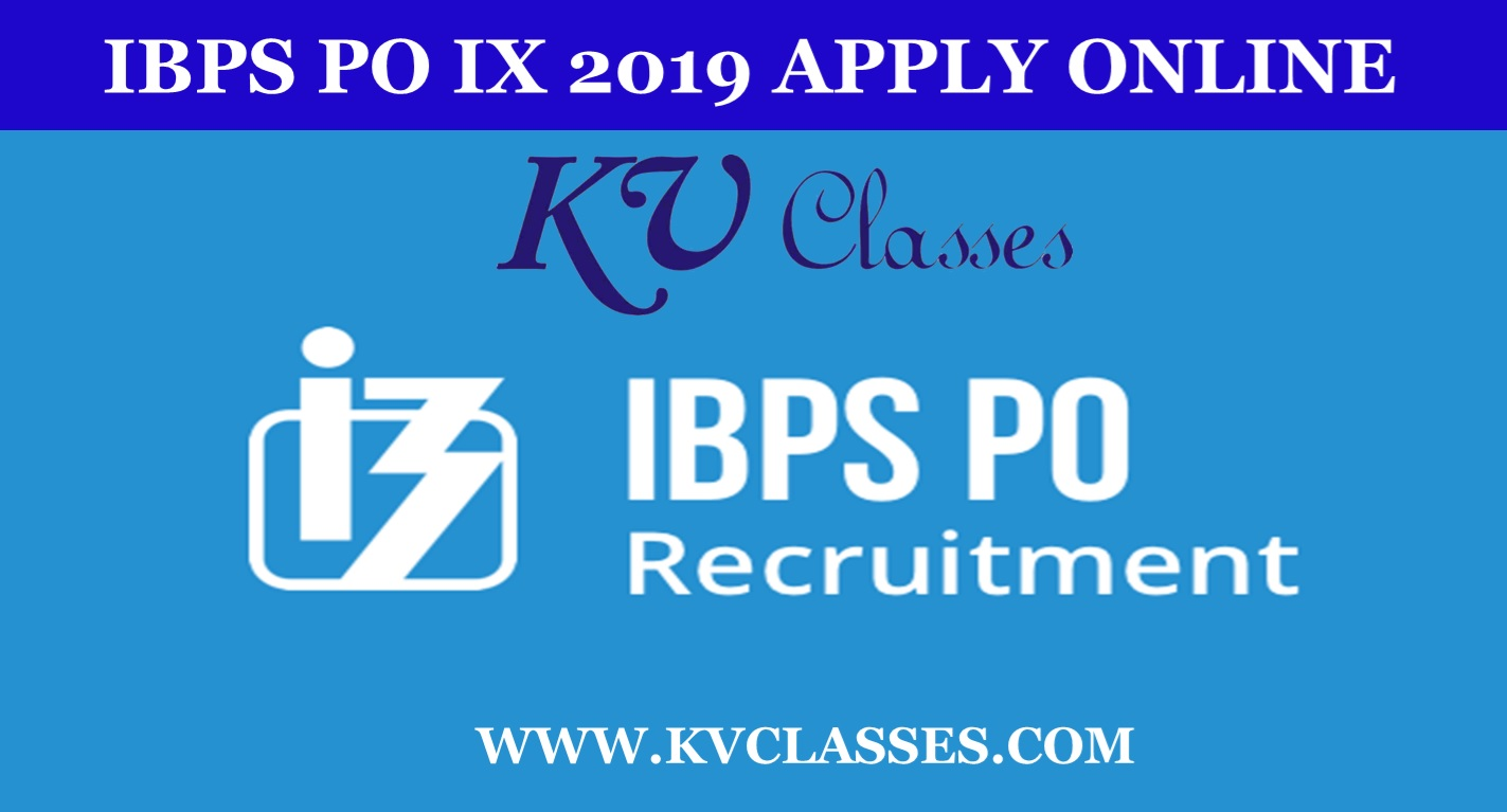 ibps po IX 2019 apply online