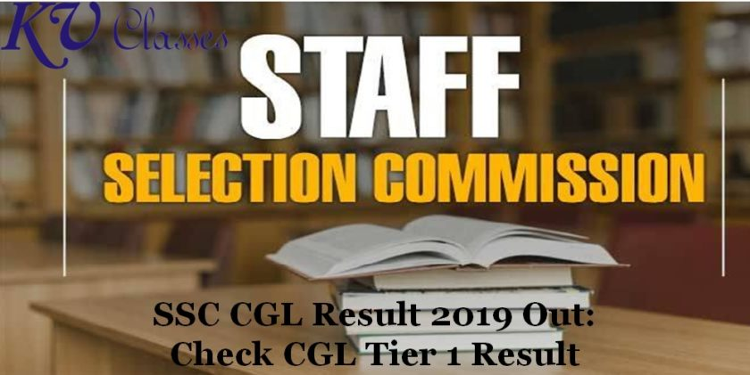 SSC CGL Result 2018-19 SSC CGL Tier 1 Result 2018-19 Out