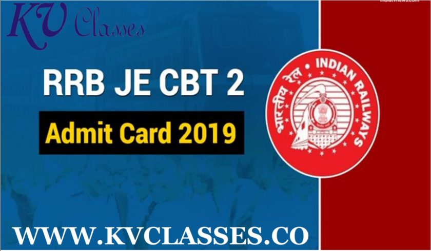 Railway RRB Junior Engineer JE Stage II Admit Card 2019