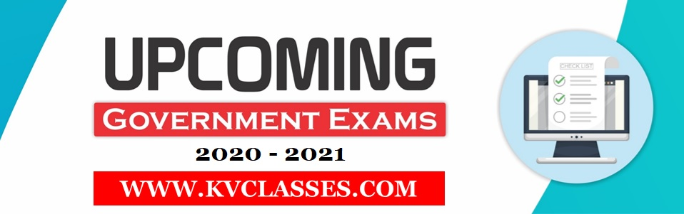 Upcoming Government Exams 2020 - 2021